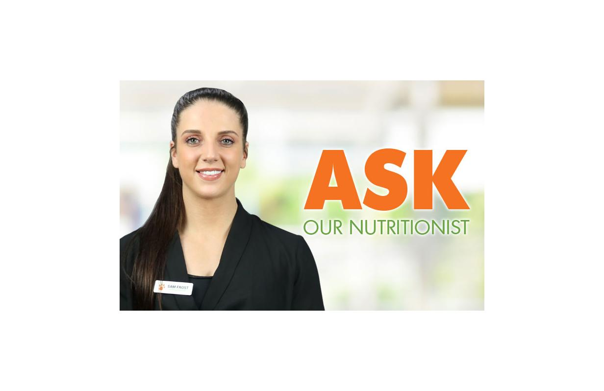Ask our nutritionist!