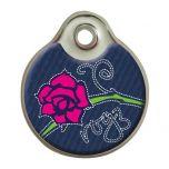 Rogz Denim Rose ID Tag