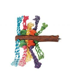 Flamingo Parrot Toy Perch with Beads