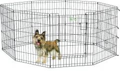 "MidWest Life Stages Exercise Pen with Full MAXLock Door 30"", Black"