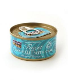 Fish4Cats Tuna Fillet with Crab Wet Food