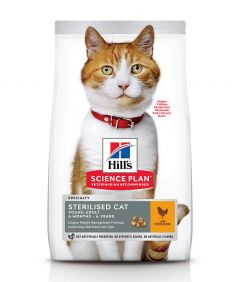 Hill's Science Plan Sterilised Young Adult Chicken Dry Cat Food