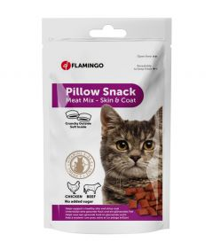 Flamingo Pillow Snack Meat Mix Skin Coat Cat Treat