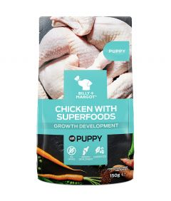 Billy & Margot Puppy Chicken with Superfoods Pouched Wet Dog Food