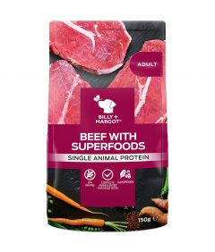 Billy & Margot Adult Beef with Superfoods Pouched Wet Dog Food