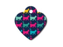 ID Tag - Small Heart Multi-Cats