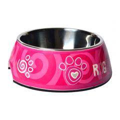 Rogz Bubble Bowl Pink Paw
