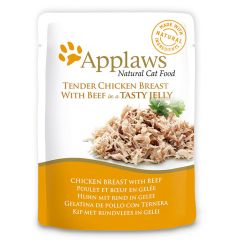 Applaws Cat Chicken with Beef 70g Jelly Pouch
