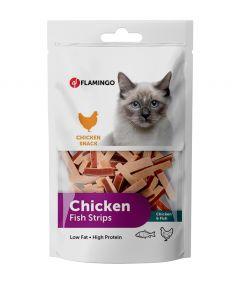 Flamingo Chicken Fish Strips Cat Treats