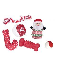 Flamingo Dog Christmas Stocking