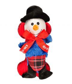 Flamingo Christmas Toy Snowman + Bone