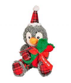 Flamingo Christmas Toy Plush Penguin + Bone