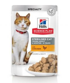 Hill's Science Plan Sterilised Cat Young Adult Wet Food Pouch