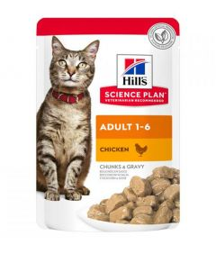 Hill's Science Plan Adult Cat Chicken Wet Food Pouch