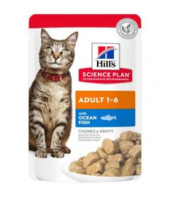 Hill's Science Plan Adult Cat Ocean Fish Wet Food Pouch