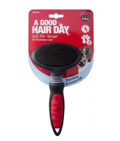 Mikki Dog and Cat Grooming Soft Pin Slicker