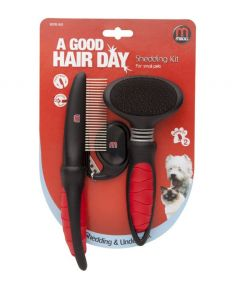 Mikki Dog and Cat Grooming Shedding Kit