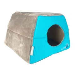 Rogz Catz Igloo Blue Floral