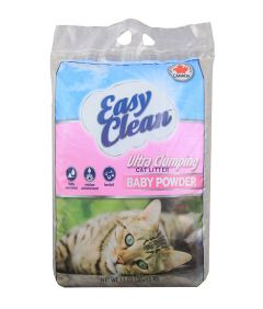 Easy Clean Cat Litter Ultra Clumping Baby Powder