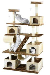 "Go PetClub 87"" Cat Tree Climber With Swing"