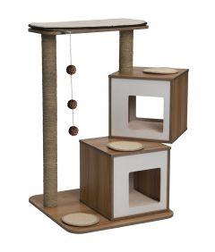 Vesper Cat Furniture V-Double Cat Tree (40.8-in)
