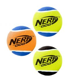 Nerf Dog Squeaker Tennis Ball Medium (Pack of 3)