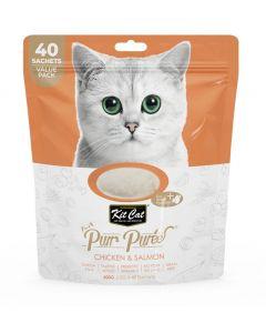 Kit Cat Purr Puree Chicken/Salmon 40Pcs Value Pack
