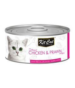 Kit Cat Chicken & Prawn Cat Wet Food