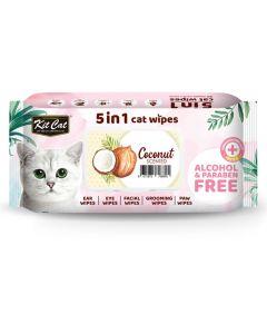 Kit Cat 5-in-1 Cat Wipes Coconut Scented