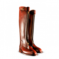 Casablanca Zipper Front Boot