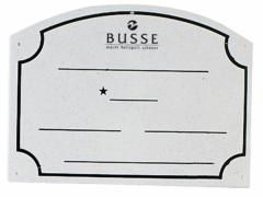 Busse PVC Name Board
