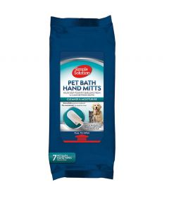 Simple Solutions Pet Bath Hand Mitts Wipes