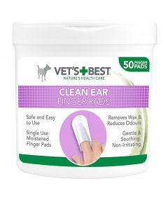 Vet's Best Clean Ear Finger Pads (50 Pads)