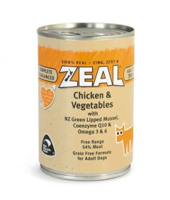 Zeal Chicken & Vegetables Canned Dog Food