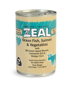 Zeal Ocean Fish, Salmon & Vegetables Canned Dog Food