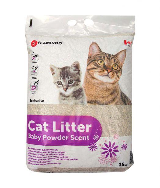 Flamingo Cat Litter Baby Powder Scent
