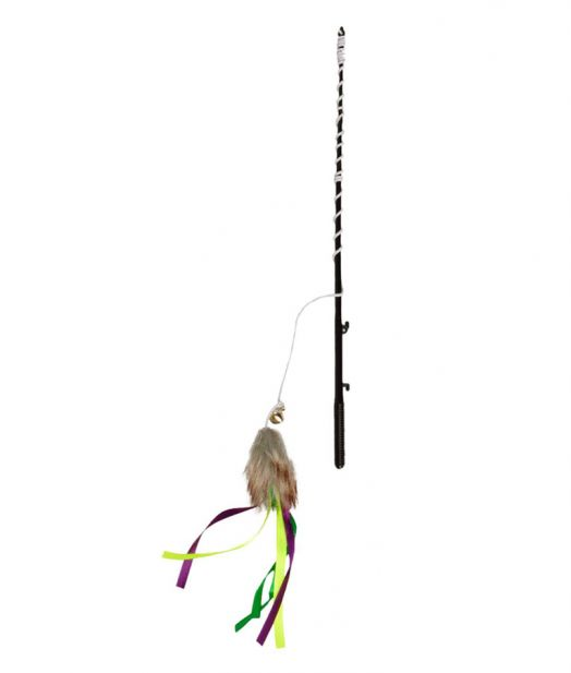 Flamingo Cat Wand Fishing Rod